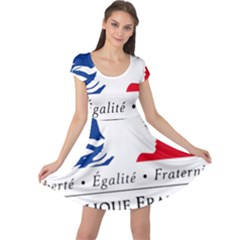 Symbol of the French Government Cap Sleeve Dresses