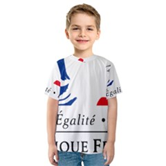 Symbol of the French Government Kids  Sport Mesh Tee