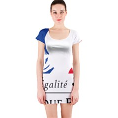 Symbol of the French Government Short Sleeve Bodycon Dress