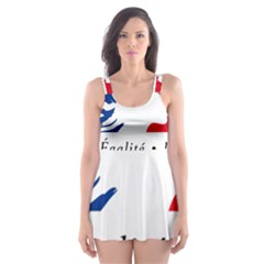 Symbol of the French Government Skater Dress Swimsuit