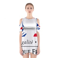Symbol of the French Government Shoulder Cutout One Piece