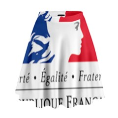 Symbol of the French Government High Waist Skirt