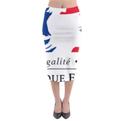 Symbol of the French Government Midi Pencil Skirt