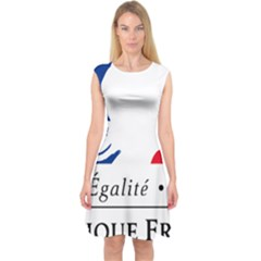 Symbol of the French Government Capsleeve Midi Dress