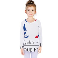 Symbol of the French Government Kids  Long Sleeve Tee