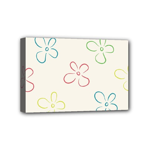 Flower Background Nature Floral Mini Canvas 6  x 4