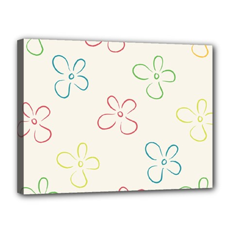 Flower Background Nature Floral Canvas 16  X 12