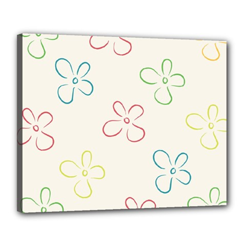 Flower Background Nature Floral Canvas 20  X 16