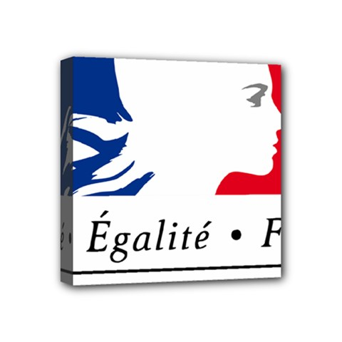 Symbol of the French Government Mini Canvas 4  x 4
