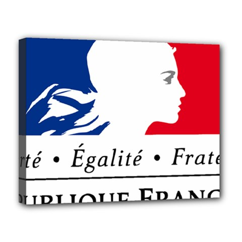 Symbol of the French Government Canvas 14  x 11