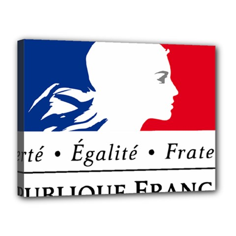 Symbol of the French Government Canvas 16  x 12
