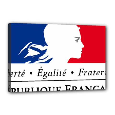 Symbol of the French Government Canvas 18  x 12