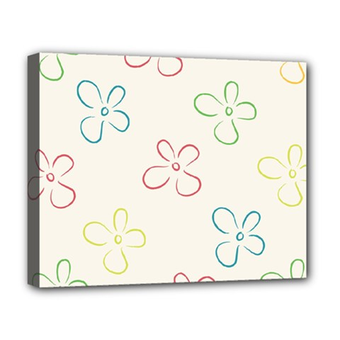 Flower Background Nature Floral Deluxe Canvas 20  X 16