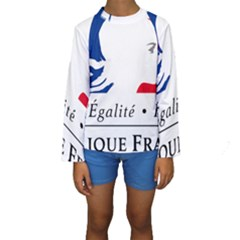 Symbol of the French Government Kids  Long Sleeve Swimwear