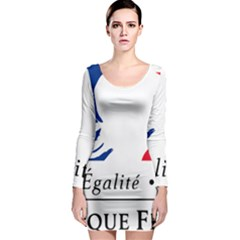 Symbol of the French Government Long Sleeve Bodycon Dress