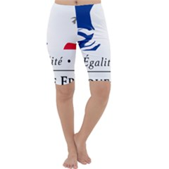 Symbol of the French Government Cropped Leggings