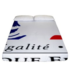 Symbol of the French Government Fitted Sheet (King Size)