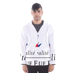 Symbol of the French Government Hooded Wind Breaker (Men)