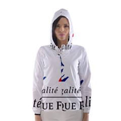 Symbol of the French Government Hooded Wind Breaker (Women)
