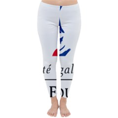 Symbol of the French Government Classic Winter Leggings