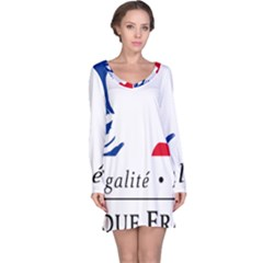 Symbol of the French Government Long Sleeve Nightdress