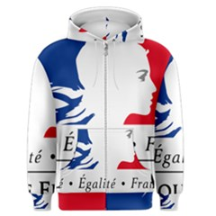 Symbol of the French Government Men s Zipper Hoodie