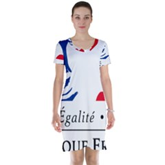 Symbol of the French Government Short Sleeve Nightdress