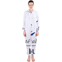 Symbol of the French Government Hooded Jumpsuit (Ladies)