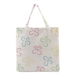 Flower Background Nature Floral Grocery Tote Bag