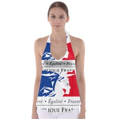 Symbol of the French Government Babydoll Tankini Top