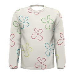 Flower Background Nature Floral Men s Long Sleeve Tee