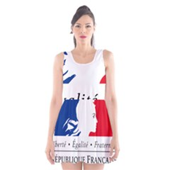 Symbol of the French Government Scoop Neck Skater Dress