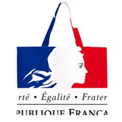 Symbol of the French Government Large Tote Bag