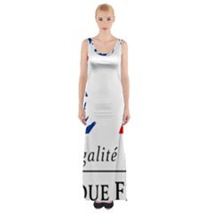 Symbol of the French Government Maxi Thigh Split Dress