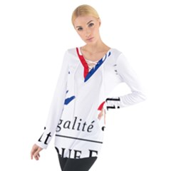 Symbol of the French Government Women s Tie Up Tee