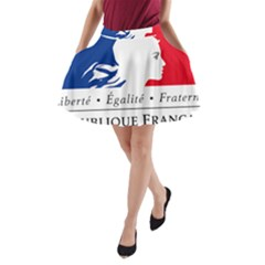Symbol of the French Government A-Line Pocket Skirt