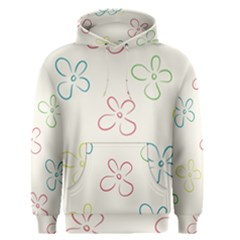 Flower Background Nature Floral Men s Pullover Hoodie