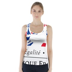 Symbol of the French Government Racer Back Sports Top