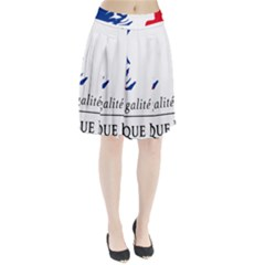 Symbol of the French Government Pleated Skirt