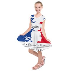 Symbol of the French Government Kids  Short Sleeve Dress