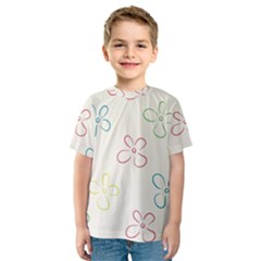 Flower Background Nature Floral Kids  Sport Mesh Tee