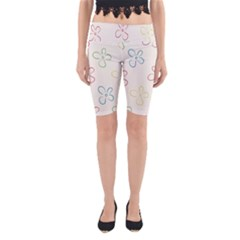 Flower Background Nature Floral Yoga Cropped Leggings