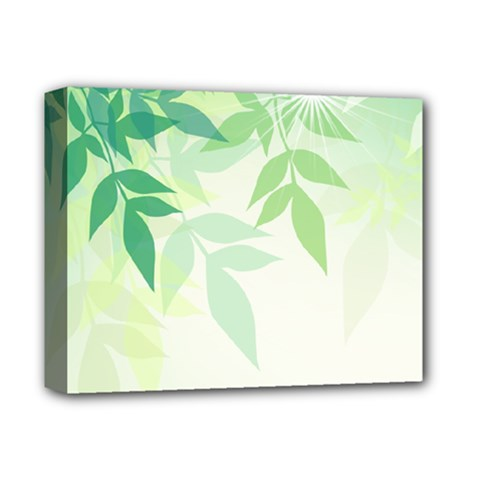 Spring Leaves Nature Light Deluxe Canvas 14  x 11
