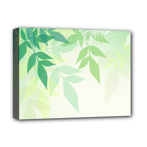 Spring Leaves Nature Light Deluxe Canvas 16  x 12