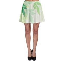 Spring Leaves Nature Light Skater Skirt