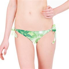 Spring Leaves Nature Light Bikini Bottom
