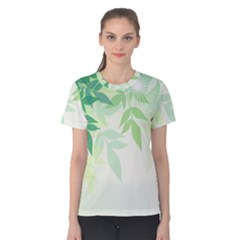 Spring Leaves Nature Light Women s Cotton Tee