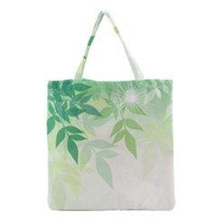 Spring Leaves Nature Light Grocery Tote Bag