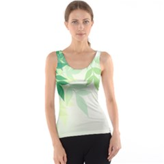 Spring Leaves Nature Light Tank Top