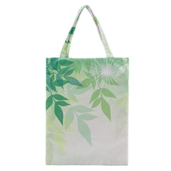 Spring Leaves Nature Light Classic Tote Bag